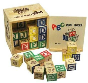 48pcs Kids Blocks - Wooden Blocks For Babies At Stationeryx