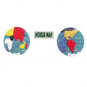 World Map Foaming Sheet