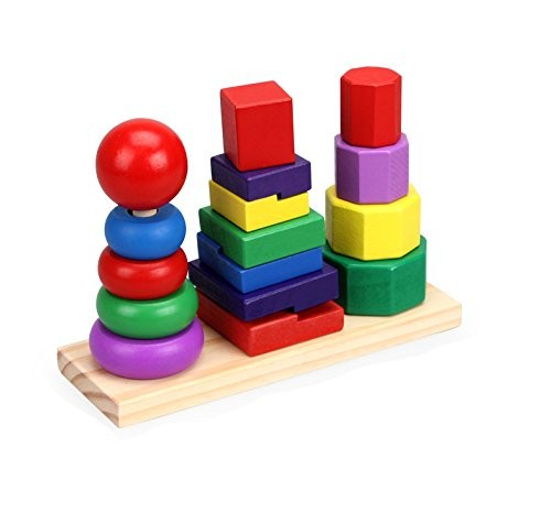 Buy Educational Toys 3 Tower Shapes Wooden Toys In Pakistan