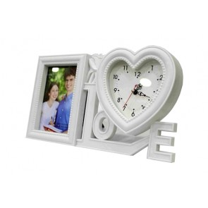 Love Design Heart Shaped Photo Frames With Clock