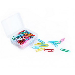 Deli Colored Paper Clip, 33mm, 100 Pcs (Box) (E39716)