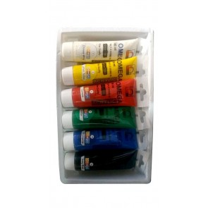 Omega Acrylic Color - Pack of 6 (30ML) Tube