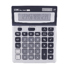 Deli E1654C 112-CHECK CALCULATOR 12-DIGIT METAL WHITE 3 Years Warranty
