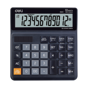 Deli EM01120 120-CHECK TAX CALCULATOR 12-DIGIT 3 Years Warranty