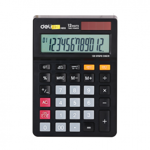 Deli 120-CHECK CALCULATOR 12-DIGIT EM01320 3 Years Warranty