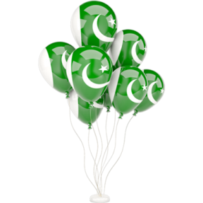 Pakistan  Flag Party Balloons Packet