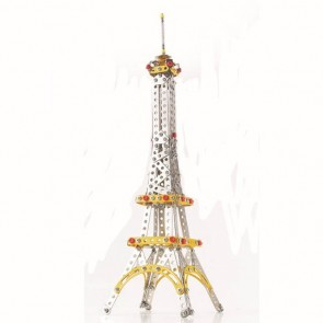 Eiffel Tower Metal Construct Fantastic Model 3D Assembled