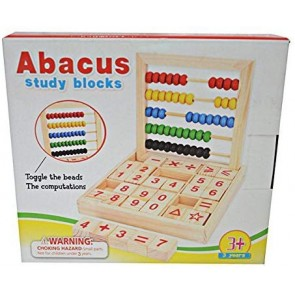 Wooden Abacus for Kids with Study Blocks for Mathematical Operations Learning Blocks