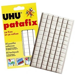 UHU Patafix 80 Glue Pads Sticks Again & Again Re position able, Quick & Clean