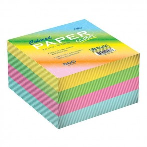 Color or White Paper Cube 500 sheets Non Sticky (Chit Pad)
