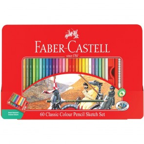 Faber-Castell Classic 60 Classic Color Pencils Sketch Set