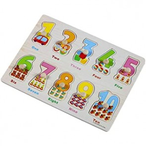 123 Wood Learning Plates - Kids Learning Toys - Any Design