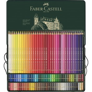 Faber-Castell Polychromos Coloured Pencils 3 Layer Tin of 120