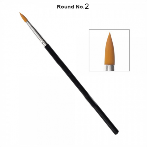 Omega Round Artist Brush Number 2 - Single Piece Price