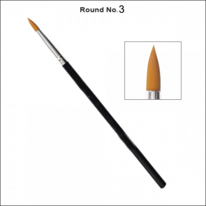 Round Drawing Brush Number 3 - Single Piece Price