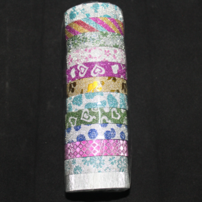 Cute Glitter Tape - Washi Tape Rolls For Artist - 12mm