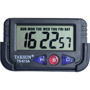 TCT Digital BLACK Clock Alarm & Stopwatch