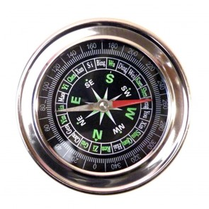 Stainless Steel Directional Magnetic Compass 2.5""
