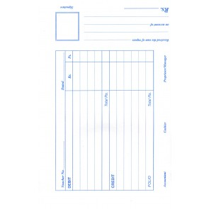 Debit & Credit Voucher Pad