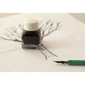 Calligraphy Indian Ink Plastic Bottle