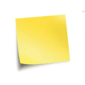 Sticky Note 3 x 4 (Pale Yellow)