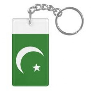 Pakistan Flag Plastic Key Chain