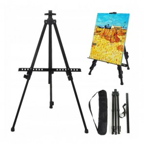 Lightweight portable tripod metal easel stand for Painting
