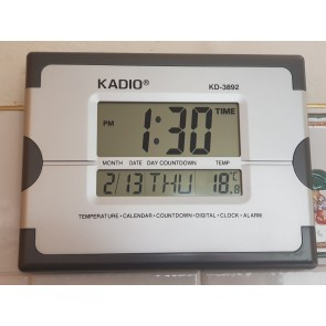 Plastic Kadio 3892 Digital Wall Clock