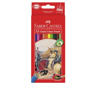 Faber-Castell Classic Coloured Pencil 12 Pack