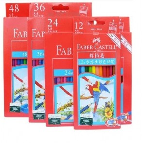 Faber Castell Soluble Color Pencils Box of  48