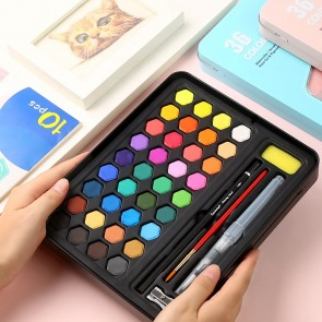 Keep Smiling 36 colors Iron Box Water Color Painting  Set