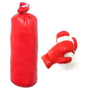 "Small 12"" Punching Bag With Boxing Gloves For Kids"