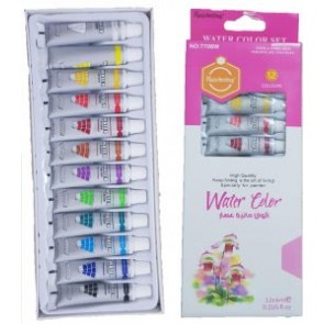 Multi Colors Keep Smiling Water Colors Set 12 Pieces