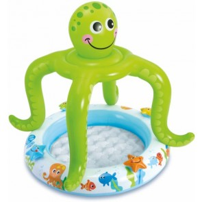 Intex Inflatable Smiling Octopus Shade Baby Pool - 57115