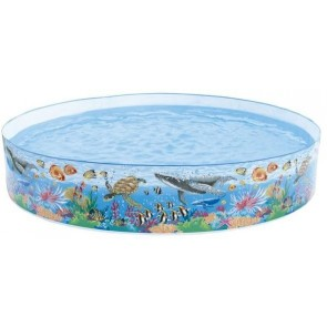 Intex 58472 Oral Reef 8ft Snapset Paddling Pool - Multicolor