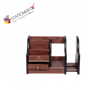Wooden Desk Organizer - Pen Stand - Card Holder HX-1046