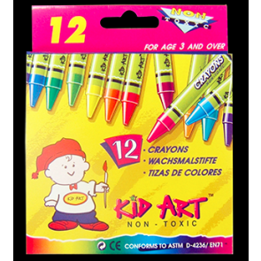 Crayons12 pcs small size ( Any Brand )