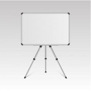 Dual Side Magnetic White Board / Chalk Board 45cmx60cm With Portable Stand