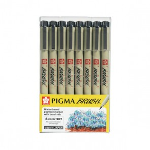 Pigma Micron Brush Pens 8 Colour Set – Sakura