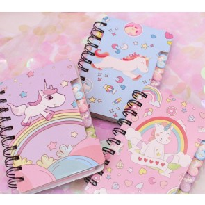 Unicorn Spiral A6 Small Note Book
