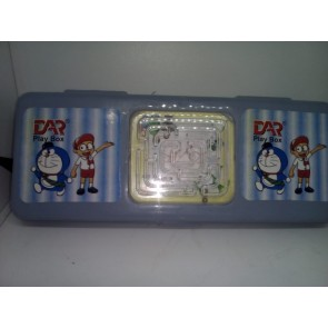 DAR plastic pencil box with game large