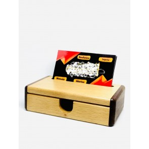Natural Wooden Visitng Card Box