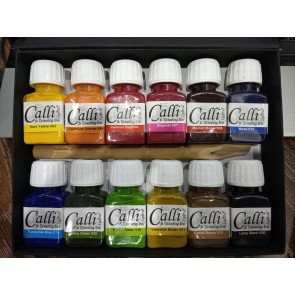 12 Calligraphy Colors Ink Set